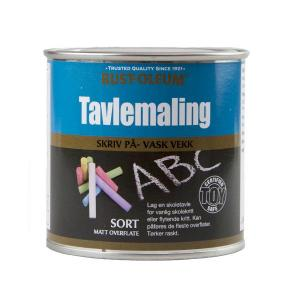 TAVLEMALING SORT MATT 250 ML